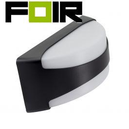 Wandlamp 'Daan' buitenlamp voordeur modern zwart wit led 12W