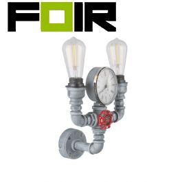 Wandlamp industrieel 'Bayuda' 2x E27 fitting metaal