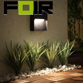 Wandlamp led downlight 'Marcus' 8W buitenlamp zwart tuinpadverlichting IP65