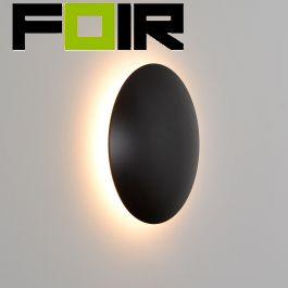 Led wandlamp 'Ayla' rond led modern 160mm (4 kleuren)-Zwart