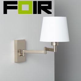 Wandlamp zilver 'Gani' E27 fitting modern verstelbaar wit