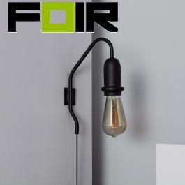 Wandlamp zwart 'Bernard' E27 fitting verstelbaar modern met schakelaar