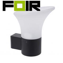 Wandlamp 'Mars' industrieel E27 fitting wit/zwart 300mm