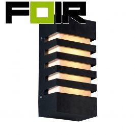Wandlamp zwart 'Bara' gevelverlichting E27 IP54
