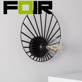 Wandlamp 'Coco' zwart e27 fitting modern frame rond 250mm