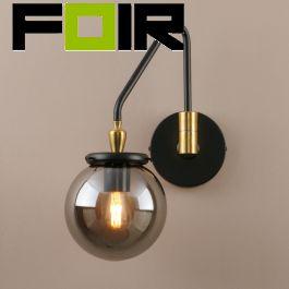 Wandlamp retro 'Goldberga' industrieel E27 fitting verstelbaar