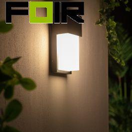Buitenlamp zwart 'Jules' voordeur verlichting wandlamp antraciet E27 IP54