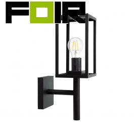 Zwarte wandlamp 'Vincent' industrieel staal E27 fitting