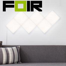 Wandpaneel 10W vierkante 30x30cm LED paneel - hoofdaansluitingspaneel