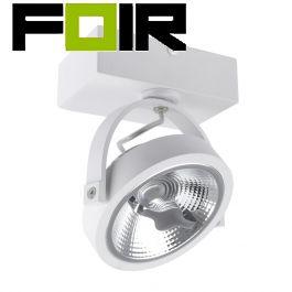 Witte verstelbare CREE-COB 15W AR111 LED plafondlamp met 1 spot (dimbaar)