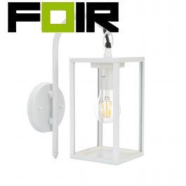 Wandlamp 'Johen' E27 fitting wit frame industrieel