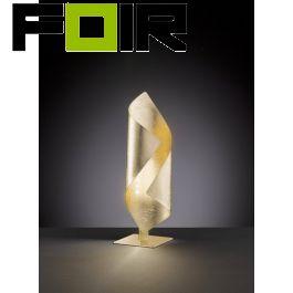 WOFI Safira LED-tafellamp goudkleurig 3W 3000K warmwit