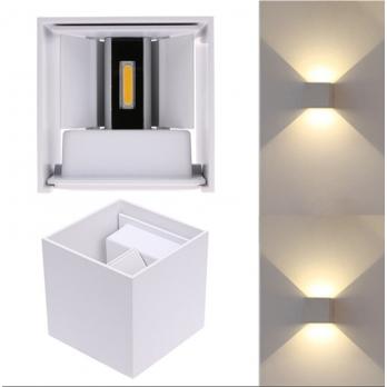 Gevel verlichting verstelbaar wit wandlamp
