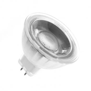 Glazen GU5.3 MR16 45º 5W COB LED lamp (220V) Warm wit 3000K op FOIR.nl