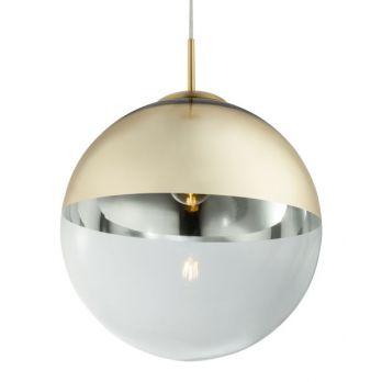 Hanglamp glas metaal industrieel e27 fitting