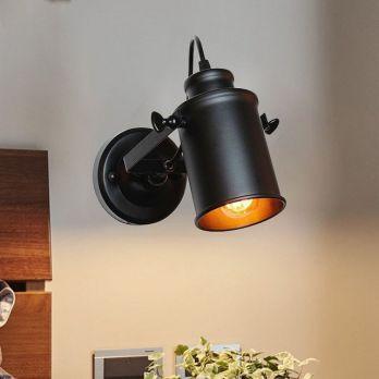 Industriele wandlamp E27 zwart vintage