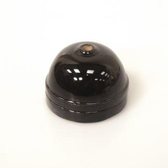 Plafondkap halve maan zwart porselein 6,5 cm op FOIR.nl