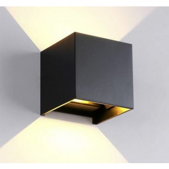Wandlamp kubus verstelbaar antraciet
