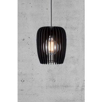 Hanglamp Tribeca 24 hout zwart modern E27 fitting