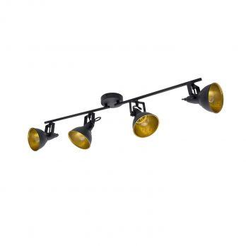 Plafondspot E14 fitting verstelbaar goud zwart