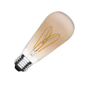led lamp hart E27 goudkleurig warm wit