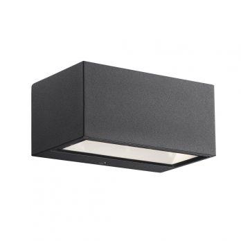 Nordlux 'Nene' wandlamp gevelverlichting 6W led aluminium glas zwart IP54 (3000K)