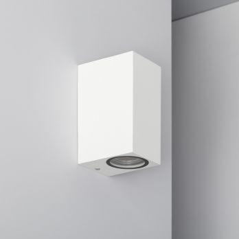 Wandlamp 'Milano' GU10  wit industrieel up- downlighter IP54