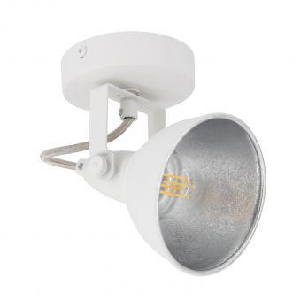Wit met zilver wandlamp bedlamp modern