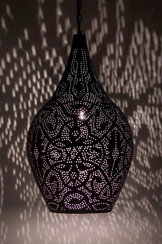 Betere Marokkaanse hanglamp 'Vase' filigrain oosterse hanglamp vaas zwart QA-12