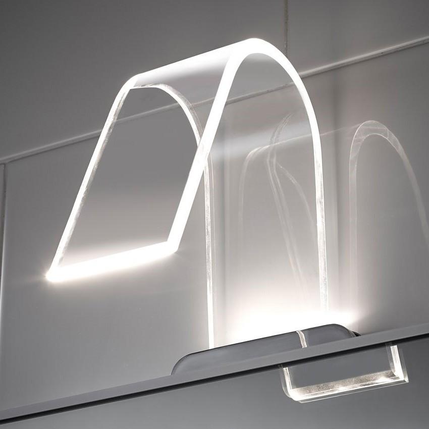 Fabulous Badkamerlamp wave acryl led modern, Badkamerlamp nodig? Bekijk hier JJ07