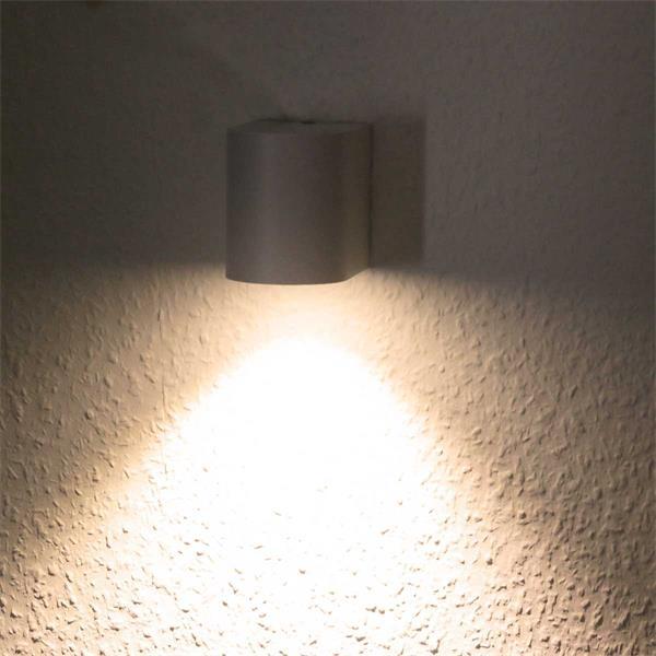 Super Led wandlamp buiten 'Boston' Aluminium - wit, Buitenverlichting SE55